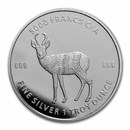 2021 Republic of Chad 1 oz Silver Mandala Antelope BU