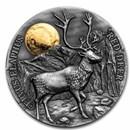 2021 Republic of Ghana 1/2 oz Silver Red Deer