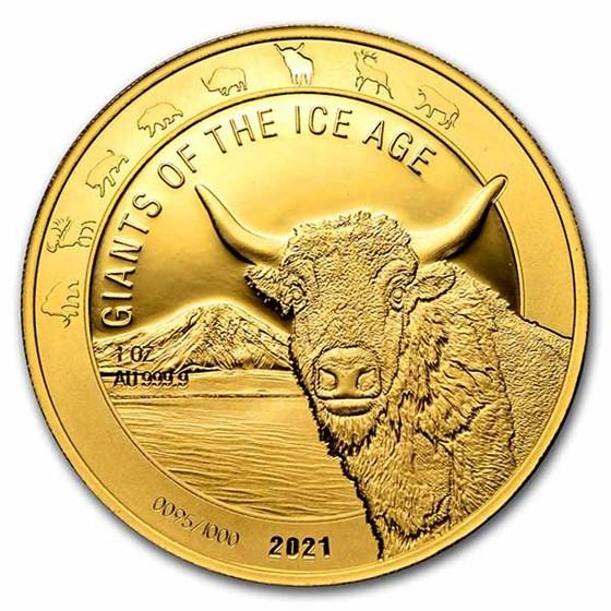 2021 Republic of Ghana 1 oz Gold Aurochs Proof