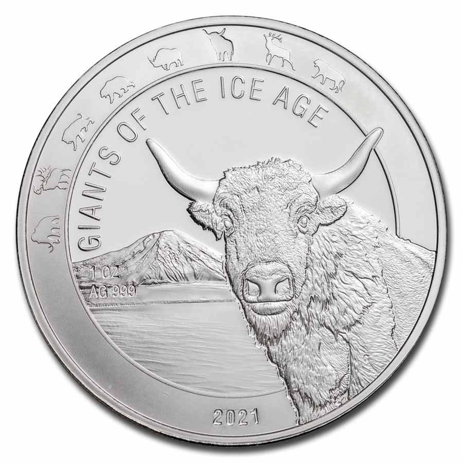 2021 Republic of Ghana 1 oz Silver Aurochs BU