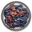 2021 Republic of Ghana Silver Chinese Culture: Phoenix and Dragon