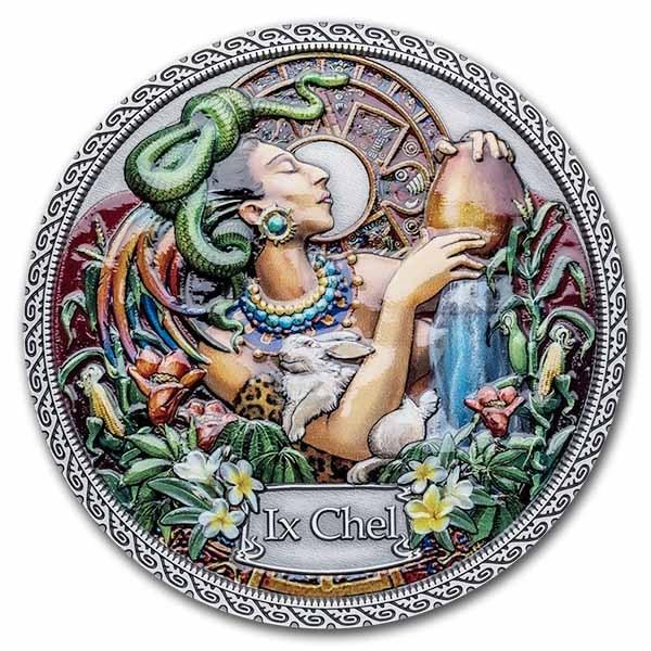 2021 Republic of Ghana Silver Goddesses of Health: Ix Chel