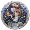 2021 Republic of Ghana Silver Goddesses of Health: Ziva
