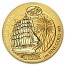 2021 Rwanda 1 oz Gold Nautical Ounce Sedov BU