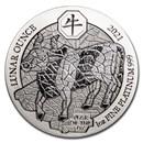 2021 Rwanda 1 oz Platinum Lunar Year of the Ox BU