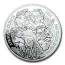 2021 Rwanda 1 oz Silver African Okapi Proof