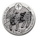 2021 Rwanda 1 oz Silver Lunar Year of the Ox BU