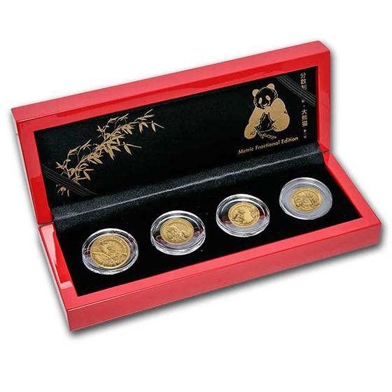 2021 Rwanda Gold Giant Panda 4-Coin Fractional Set