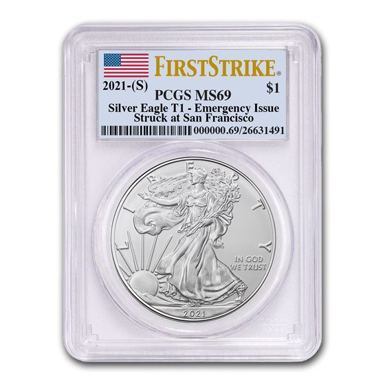 2021 (S) American Silver Eagle MS-69 PCGS (FirstStrike®)