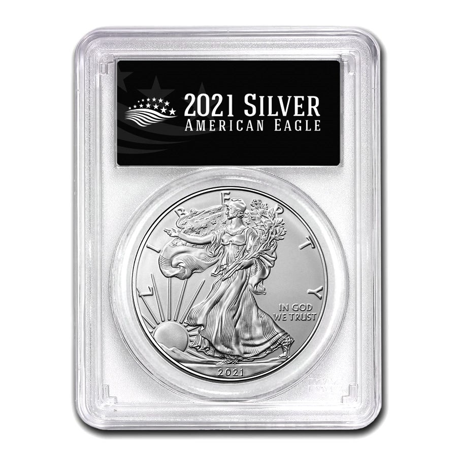 2021 (S) American Silver Eagle MS-69 PCGS (FS, Black Label)