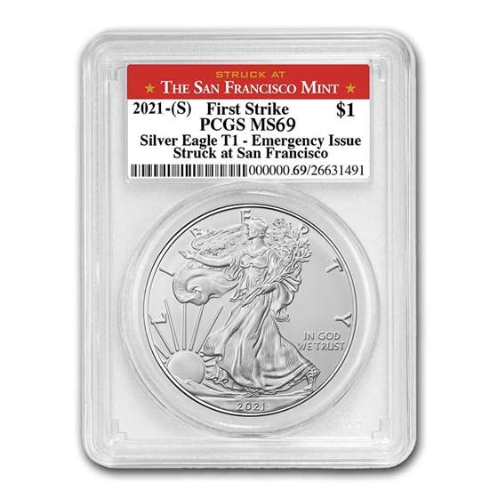 2021 (S) American Silver Eagle MS-69 PCGS (FS, San Francisco)
