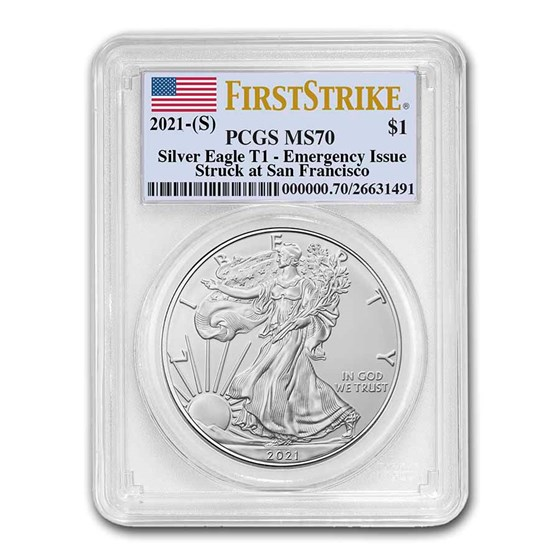 2021 (S) American Silver Eagle MS-70 PCGS (FirstStrike®)