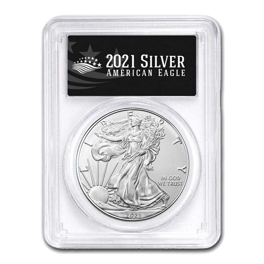 2021 (S) American Silver Eagle MS-70 PCGS (FS, Black Label)