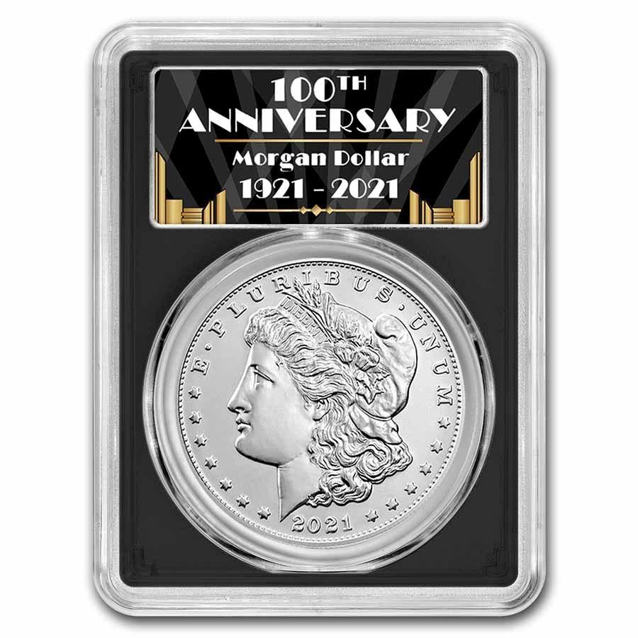 2021-S Silver Morgan Dollar MS-70 PCGS (FDI, Black)