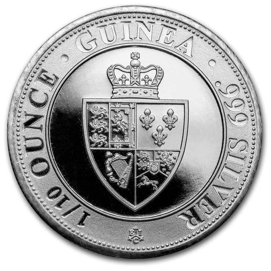 2021 Saint Helena 1/10 oz Silver Spade Guinea Shield BU