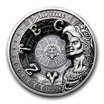 2021 Samoa 1 kilo Silver Aztec Empire Multiple Layer Coin