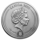 2021 Samoa 1 kilo Silver Harry Potter in Hogwarts Multiple Layer