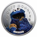 2021 Samoa 1 oz Silver Sesame Street: Cookie Monster
