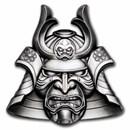 2021 Samoa 2 oz Silver Ancient Warriors: Samurai Mask Shaped Coin