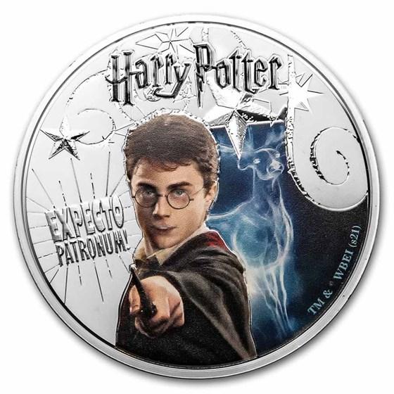 2021 Samoa 5 oz Silver Harry Potter: Patronus Glow In the Dark
