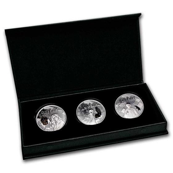 2021 Samoa Silver Harry Potter 3-Coin Proof Set
