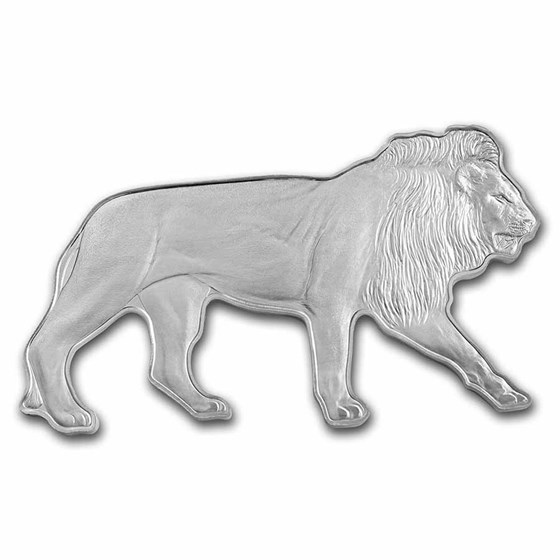 2021 SI 1 oz Silver $2 Animals of Africa: African Lion