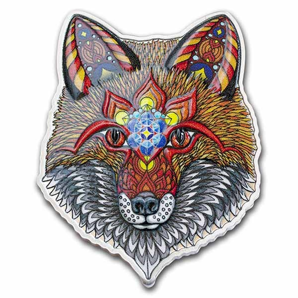 2021 SI 1 oz Silver $2 Spirit Animals by Phil Lewis: Electric Fox