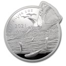 2021 SI 2 oz Silver $5 Ocean Predators: Great White Shark