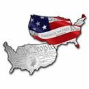2021 SI 5 oz Silver $15 America the Free: Stars & Stripes