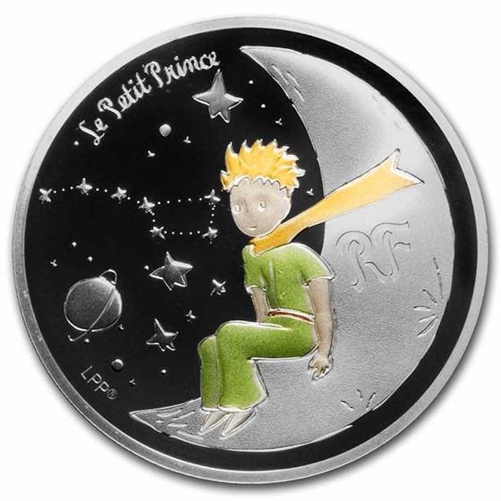 2021 Silver €10 The Little Prince Proof (Moon)