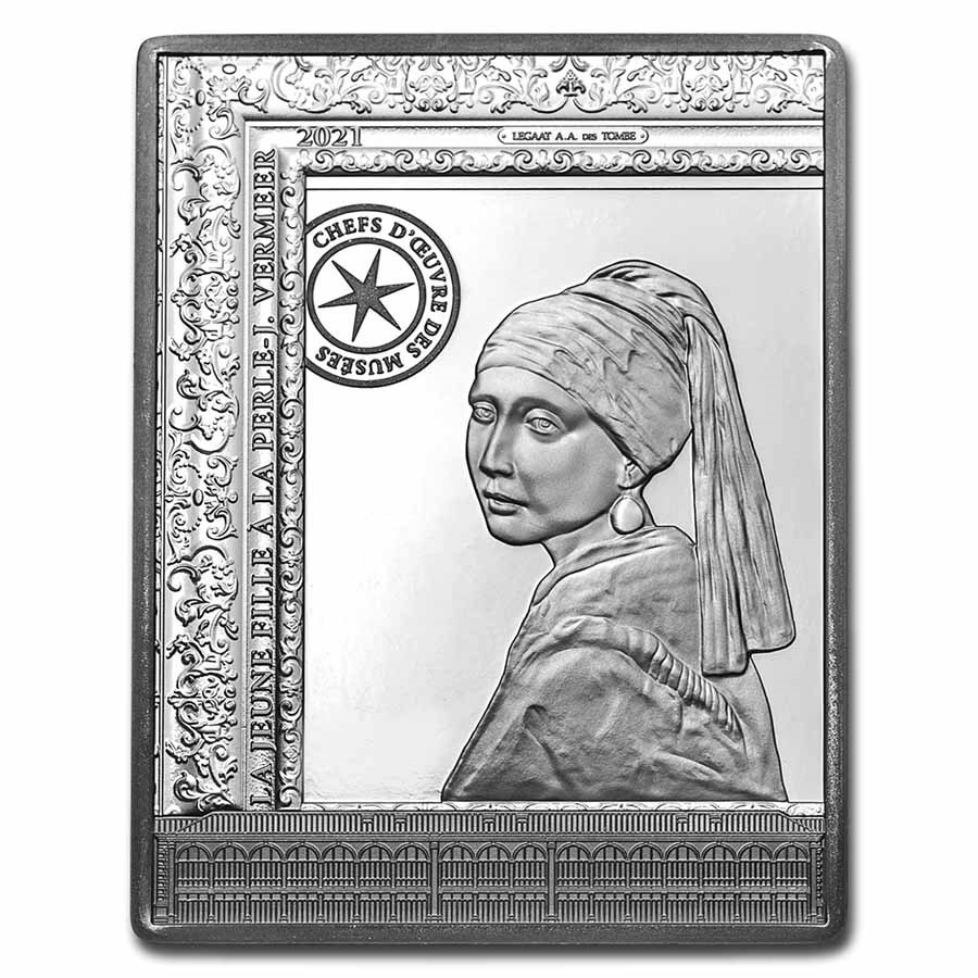 2021 Silver €50 The Girl with a Pearl Earring