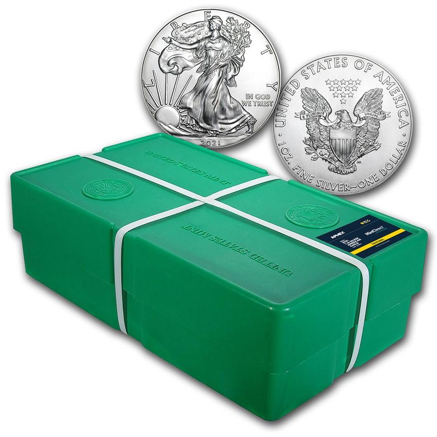 2021 Silver Eagle (Type 1) Monster Box (MD® Premier + PCGS FS®)