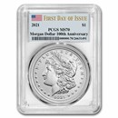 2021 Silver Morgan Dollar MS-70 PCGS (First Day of Issue)