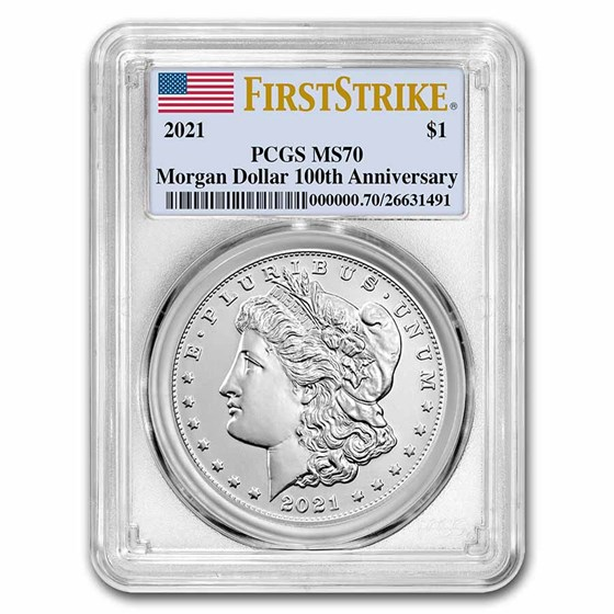2021 Silver Morgan Dollar MS-70 PCGS (FirstStrike®)