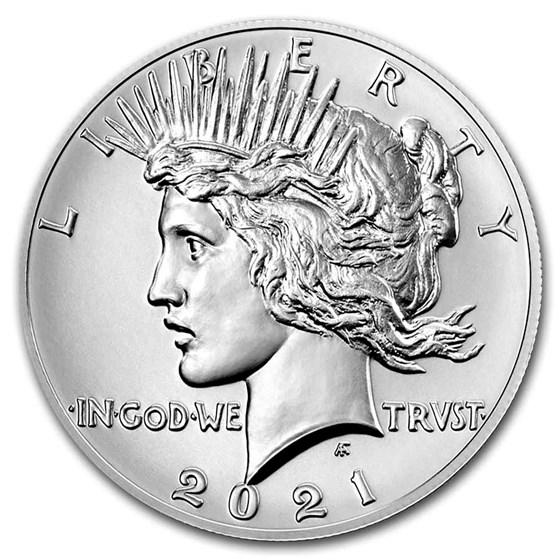 2021 Silver Peace Dollar (Box & COA)