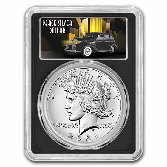 2021 Silver Peace Dollar MS-70 PCGS (FDI, 100th Anniversary)