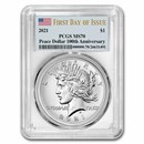 2021 Silver Peace Dollar MS-70 PCGS (First Day of Issue)