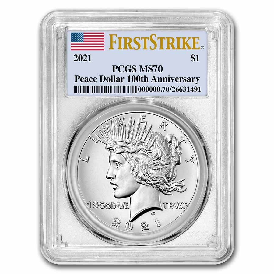 2021 Silver Peace Dollar MS-70 PCGS (FirstStrike®)