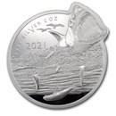 2021 Solomon Is 2 oz Silver $5 Ocean Predators: Great White Shark