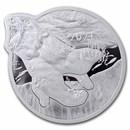 2021 Solomon Is 2 oz Silver $5 Ocean Predators: Polar Bear