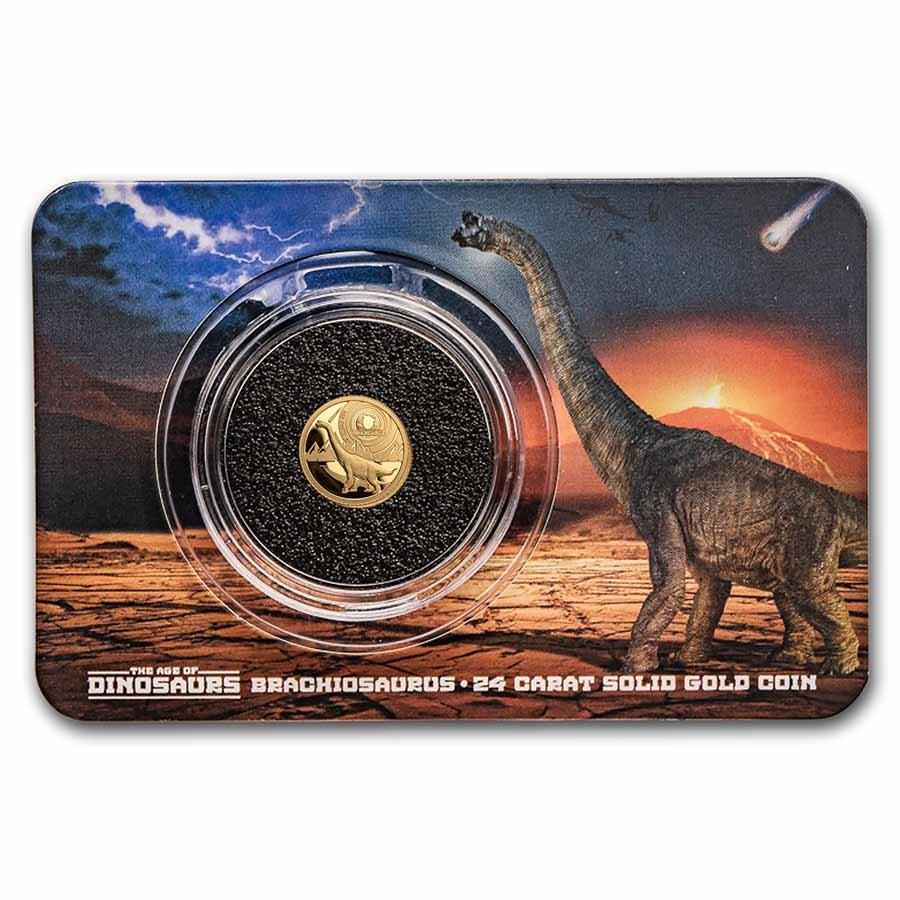 2021 Solomon Islands 1/2 gm Gold Age of Dinosaurs: Brachiosaurus