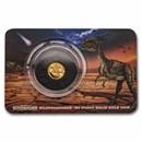 2021 Solomon Islands 1/2 gm Gold Age of Dinosaurs: Dilophosaurus