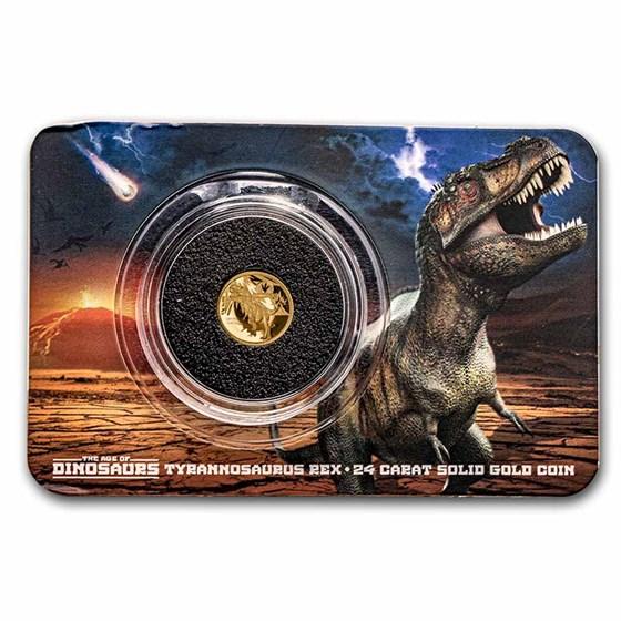 2021 Solomon Islands 1/2 gm Gold Age of Dinosaurs: Tyrannosaurus