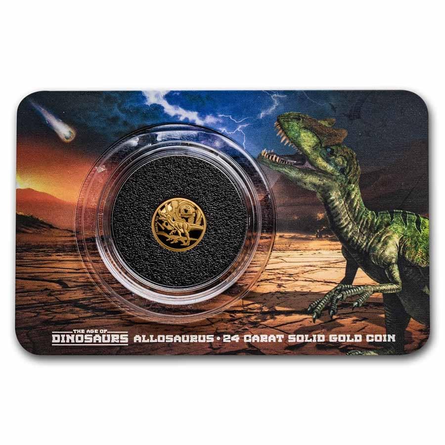 2021 Solomon Islands 1/2 Gram Gold Age of Dinosaurs: Allosaurus