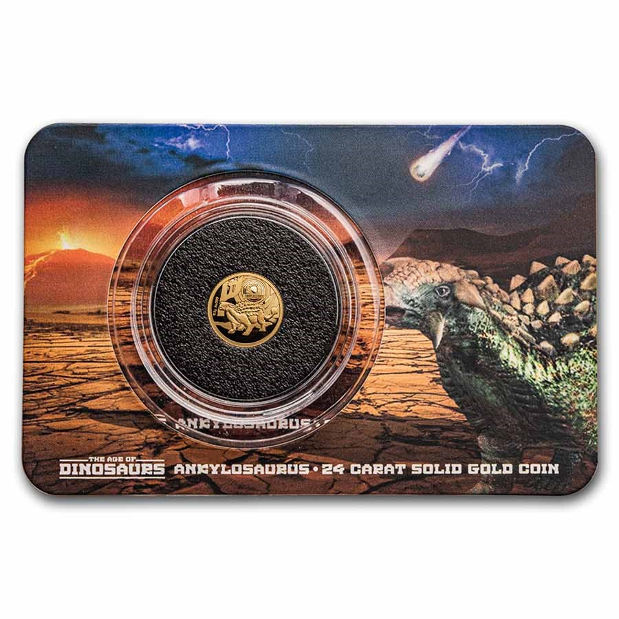2021 Solomon Islands 1/2 Gram Gold Age of Dinosaurs: Ankylosaurus