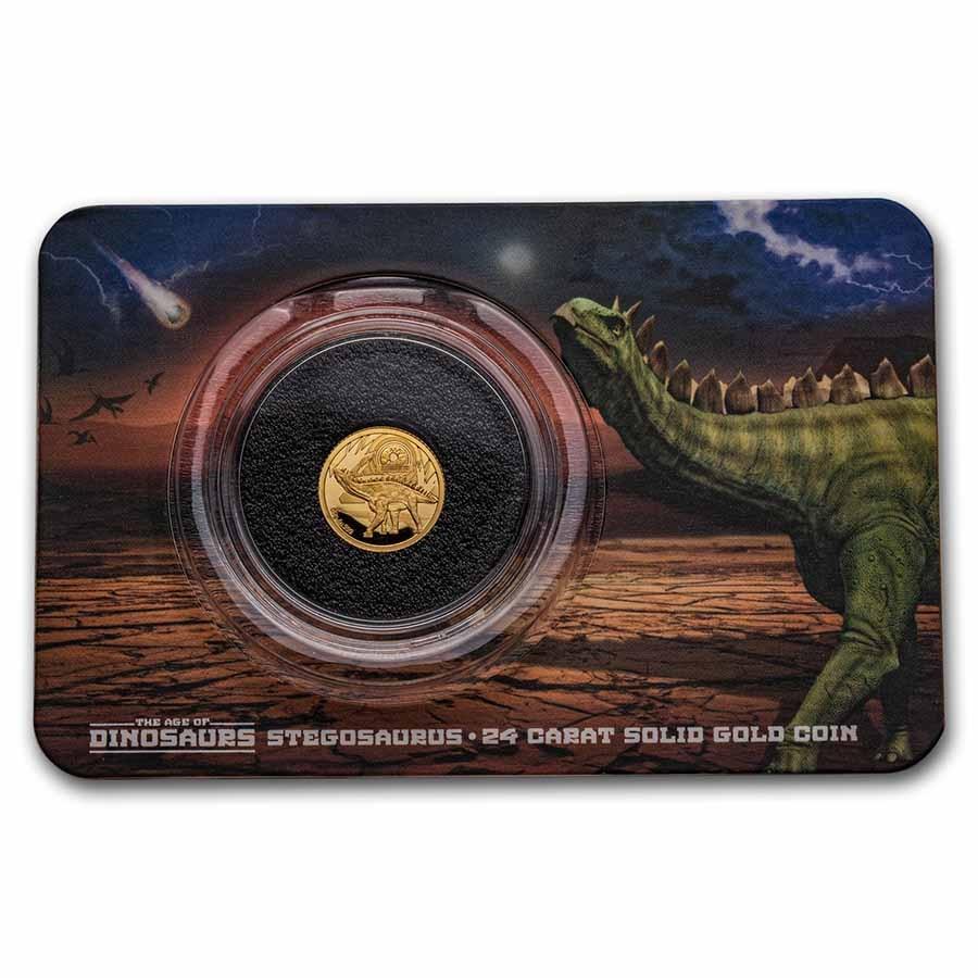 2021 Solomon Islands 1/2 Gram Gold Age of Dinosaurs: Stegosaurus