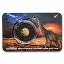 2021 Solomon Islands 1/2 Gram Gold Age of Dinosaurs;Brachiosaurus