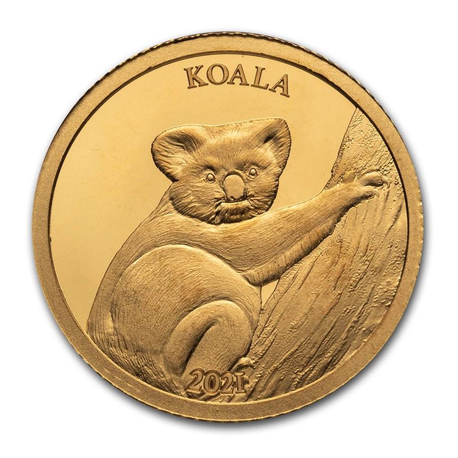 2021 Solomon Islands 1/2 Gram Proof Gold Koala