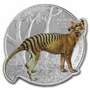 2021 Solomon Islands 1 oz Silver $2 Tasmanian Tiger