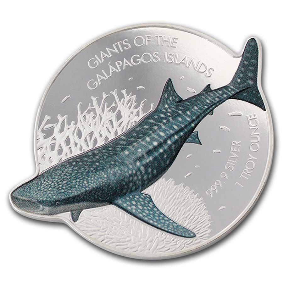 2021 Solomon Islands 1 oz Silver $2 Whale Shark